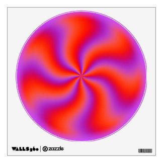 Neón divertido espiral hipnótico de la ilusión vinilo adhesivo
