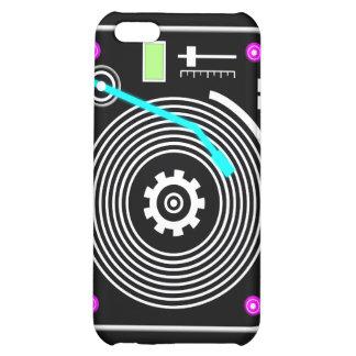 Neon DJ turntable Case For iPhone 5C
