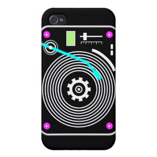 Neon DJ turntable Cases For iPhone 4