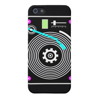 Neon DJ turntable Cases For iPhone 5