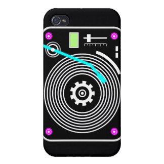 Neon DJ turntable iPhone 4/4S Covers
