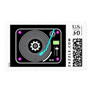 Neon DJ turntable Postage