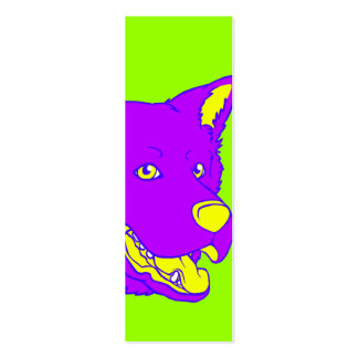 Neon Dog Bookmark Business Card