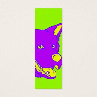 Neon Dog Bookmark Mini Business Card