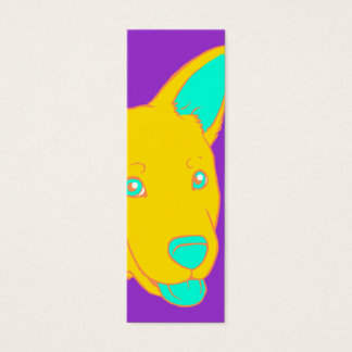 Neon Dog Bookmark Mini Business Card