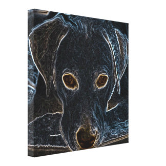 Neon Dog Gallery Wrapped Canvas
