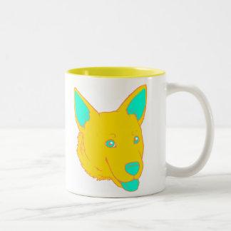 Neon Dog Coffee Mug