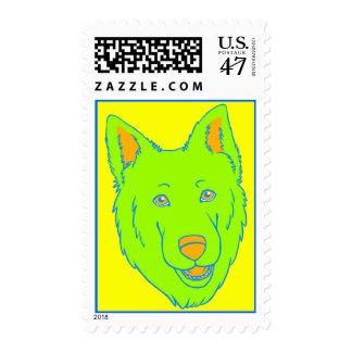Neon Dog Postage