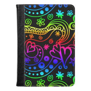 Neon Doodle Art Kindle Fire Folio Kindle Case at Zazzle