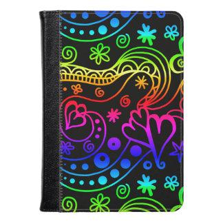 Neon Doodle Art Kindle Fire Folio Kindle Case