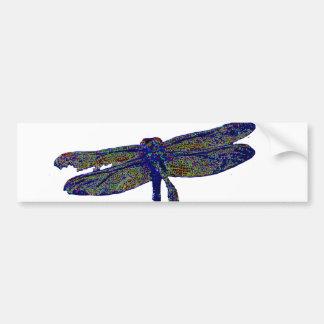 Neon Dragonfly Bumper Sticker