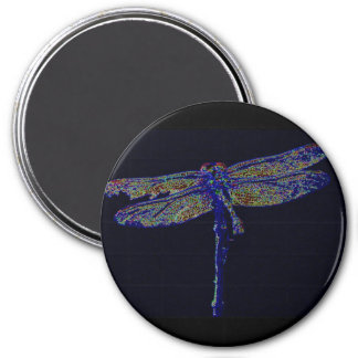 Neon Dragonfly Magnet