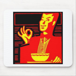 Neon Eating Man Mouse Pad