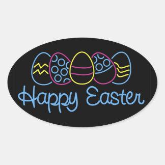 Neon Eggs - Oval Sticker
