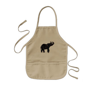 Neon Electric Elephant Aprons