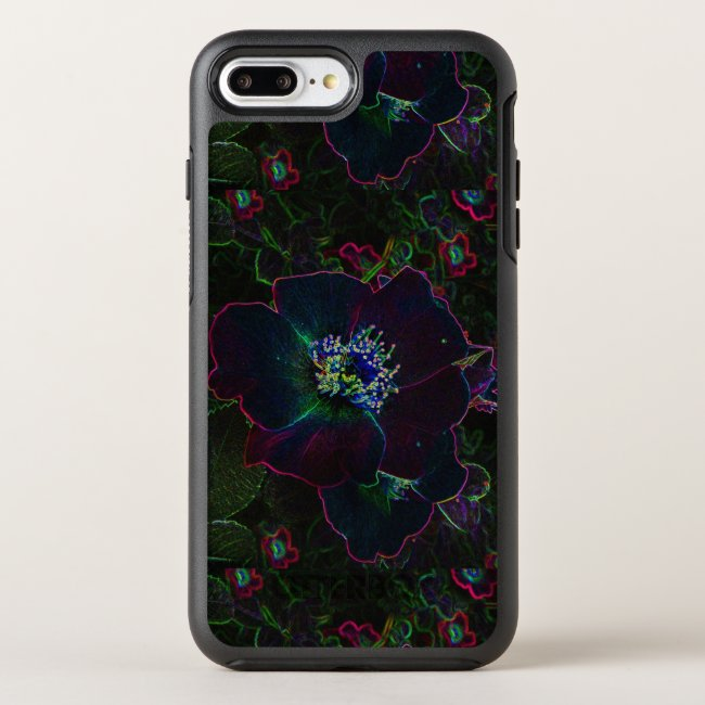 Neon Electric Rose Garden Flowers Floral Abstract
