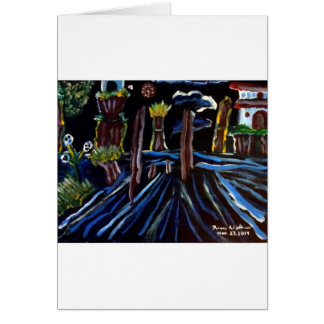 Neon Electric Trees Card