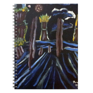 Neon Electric Trees Notebook