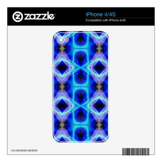 Neon Electrical Blue Abstract Pattern iPhone 4S Decals