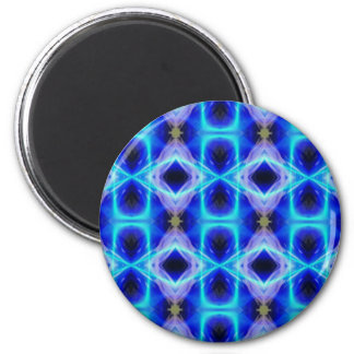 Neon Electrical Blue Abstract Pattern Magnet
