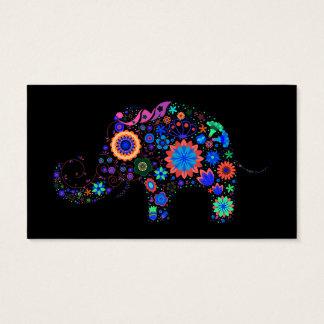 Neon Elephant Business Card