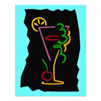 Neon-esque Pop Art Cocktail Beverage Invitations