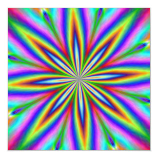 Neon Explosion Card