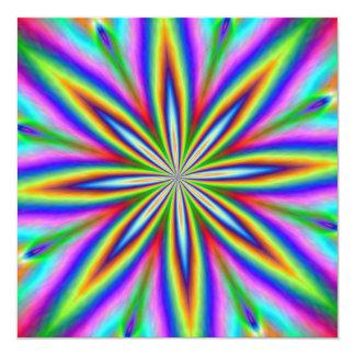 Neon Explosion 5.25x5.25 Square Paper Invitation Card