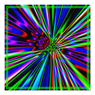 Neon Explosion Lime Birthday Card