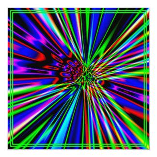 Neon Explosion Lime Birthday 5.25x5.25 Square Paper Invitation Card