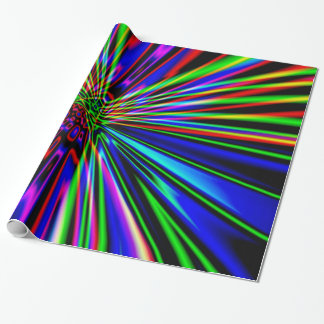 Neon Explosion Wrapping Paper
