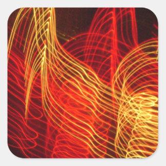 Neon Exposures Magnet Square Sticker