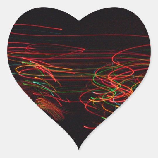 Neon Exposures Rainbow Heart Sticker