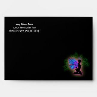 Neon Fairy Sweet 16 Birthday Envelope