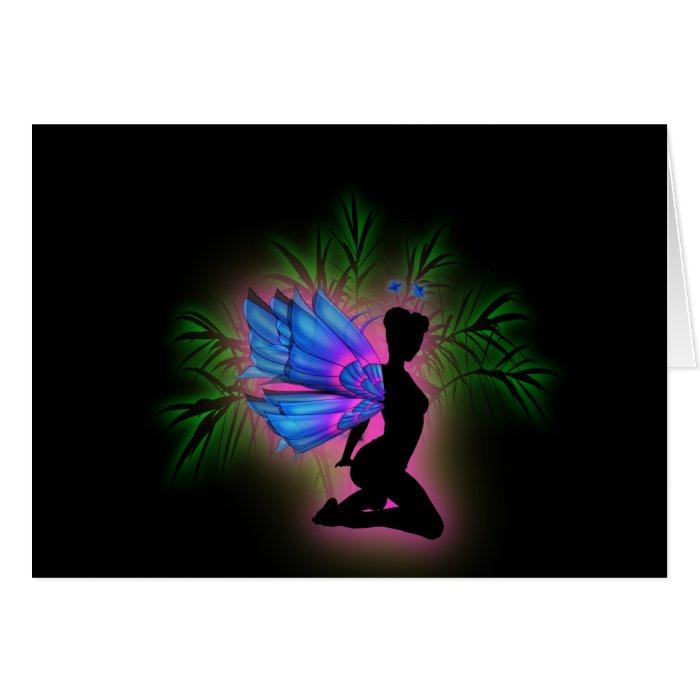 Neon Fairy Sweet 16 Birthday RSVP Card