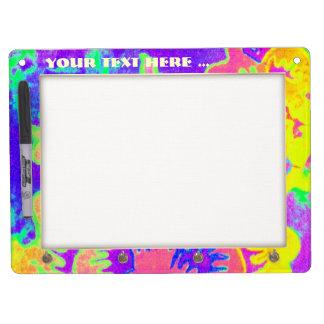Neon Fantasy Dry Erase Board With Keychain Holder
