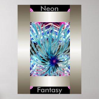 Neon Fantasy Modern Art Abstract CricketDiane Poster