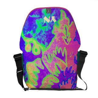 Neon Fantasy monogram Messenger Bags