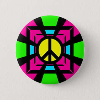 NEON FANTASY PEACE SIGN BUTTON