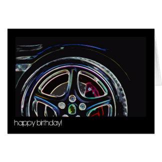 ¡neón - feliz cumpleaños! tarjeta de felicitación