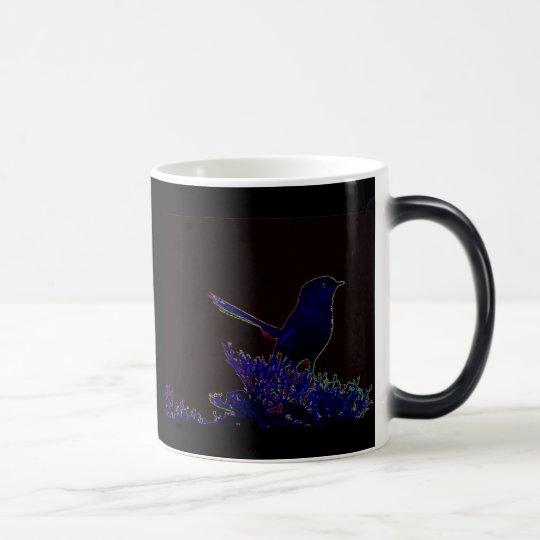 Neon Female Fairy Wren Magic Mug