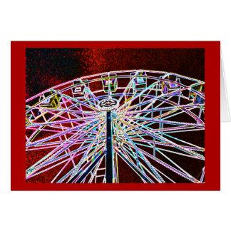 Neon Ferris Wheel Card