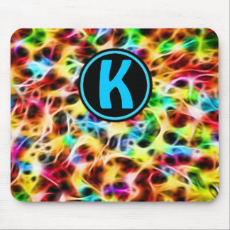 Neon Fibers Personalized Mouse Pad