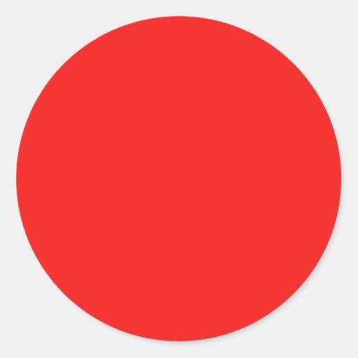 Neon Fire Engine Cherry Red Bright Fashion Color Round Sticker