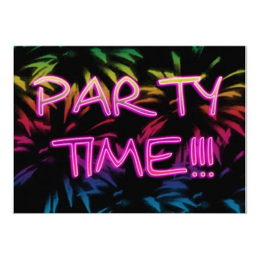 Neon Colored Birthday Invitations as great invitation design