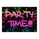 "Neon Fireworks Party Invitation 5"" X 7"" Invitation Card"