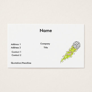 neon flames volleyball business card