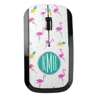 Neon Flamingos | Monogram Wireless Mouse