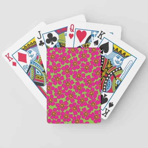 neon_floral. cartas de juego