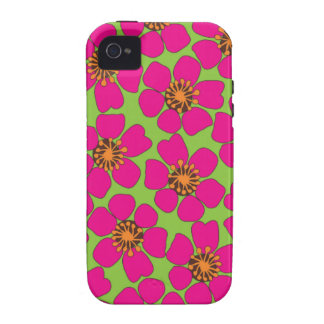 neon floral vibe iPhone 4 case